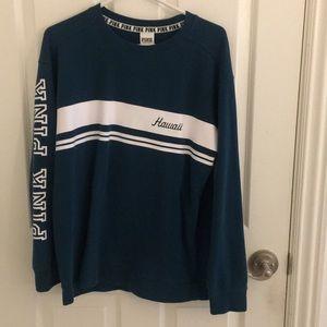 blue hawaii pink sweater